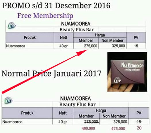 harga promo nu amoorea stem cell 2016