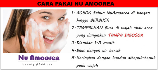 cara pakai sabun nu amoorea beauty plus bar