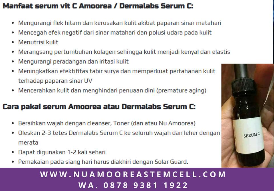 Manfaat dan Cara Pemakaian Serum C Nu Amoorea